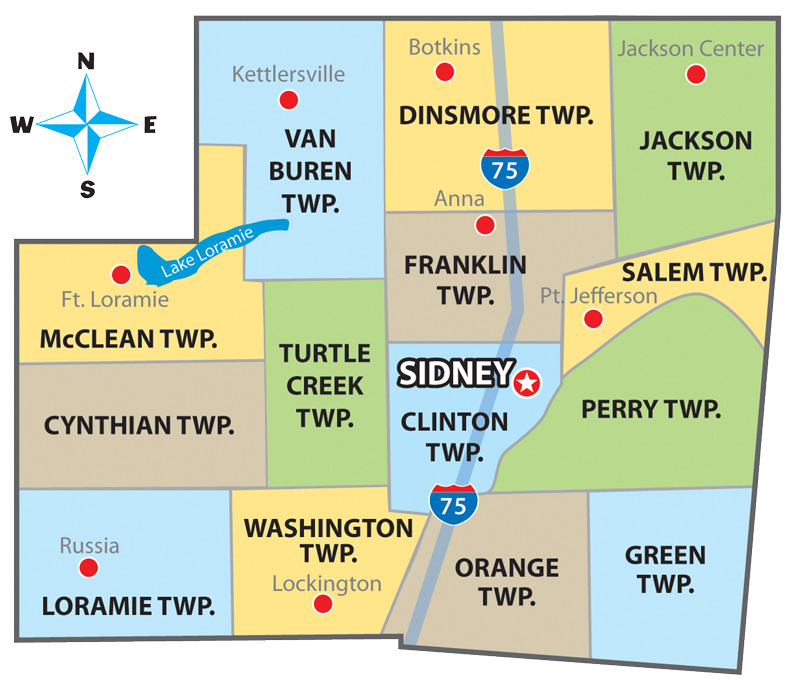 Township Map Welcome To Shelby County Ohio